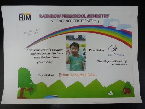 2013年参加证书